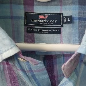 Vineyard vines 100% linen shirt
